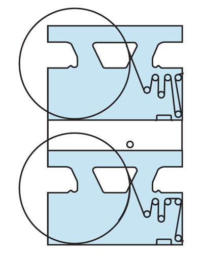 двухярусная рулонная зарядка для башни, печать 2+2 с 2 рулонов