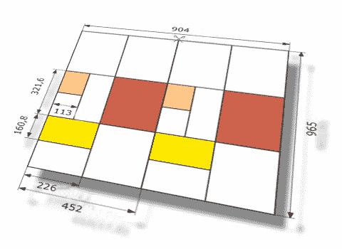 размеры полос тетрадей zirkon 9621