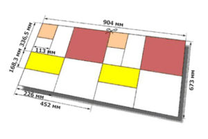 размеры полос тетрадей zirkon Gold Line 6722